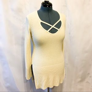 Free People Unique Cream Sweater-Dress